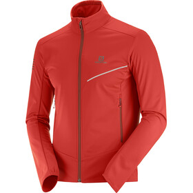 Salomon RS Chaqueta Softshell Hombre, goji berry/madder brown